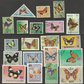 Used postage stamps. 20 stamps on the theme of Butterflies
