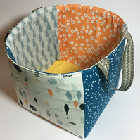 Fabric storage basket