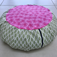 Zafu, meditation, yoga cushion cover. Removable, washable, lightweight.