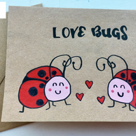 Cute Love Bugs Valentines Day Card
