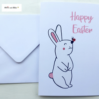 Cute Rabbit Easter Card