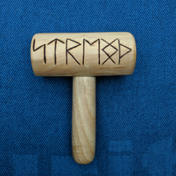 "Birch and Ash Rune Mallet ""Strength"""