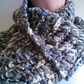 Crochet scarf-textured and chunky pattern