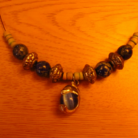 Sodalite Necklace Dolphin Drop