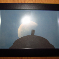 Glastonbury Tor with Moon Photo Frame
