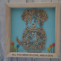 Dog - 24cm Deep Box Picture Frame
