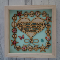 Mothers - 24cm Deep Box Picture Frame