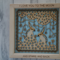 Love you to the moon - 24cm Deep Box Picture Frame