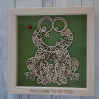 Frog - 24cm Deep Box Picture Frame
