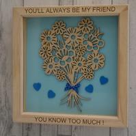 You'll always be my friend - 24cm Deep Box Picture Frame