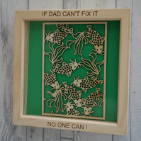 Dad - 24cm Deep Box Picture Frame