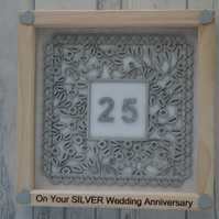 Silver Wedding - 24cm Deep Box Picture Frame