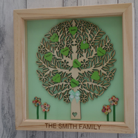 Family Tree - 24cm Deep Box Picture Frame