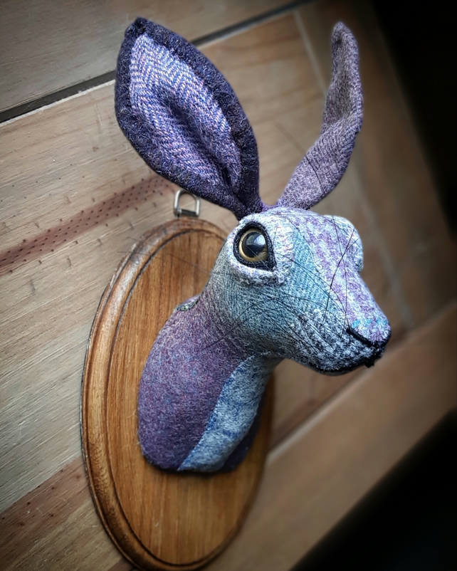 Hare head heather, grey and blue tartan wool