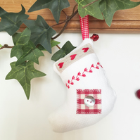 CHRISTMAS STOCKING DECORATION - embroidered nordic