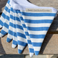BUNTING - blue and white stripes