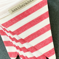 BUNTING - red and white stripes