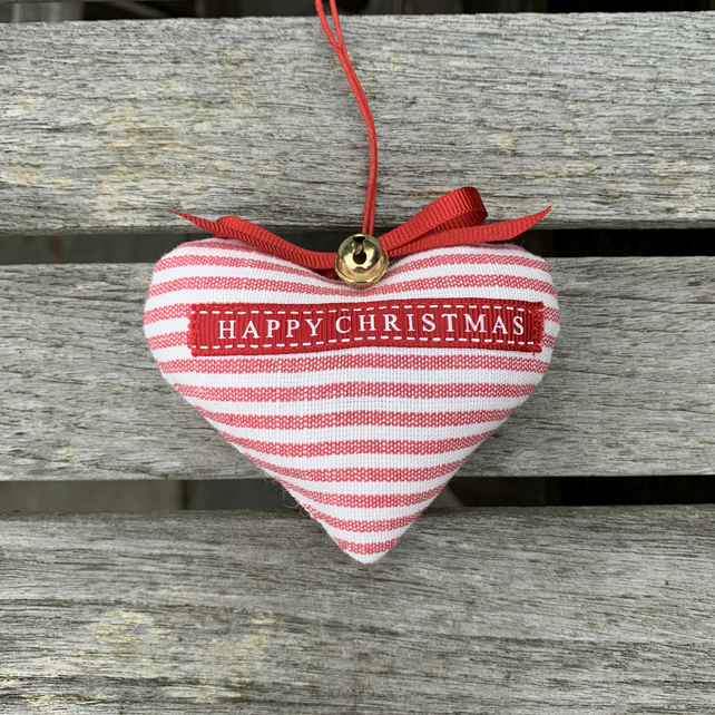 CHRISTMAS HEART - red stripes