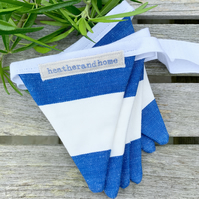 BUNTING - bold blue and white stripes