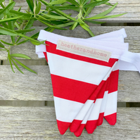 BUNTING - bold red and white stripes