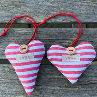 YNWA HEART - red and white stripes, lavender
