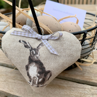 EASTER BUNNY HEART - with lavender