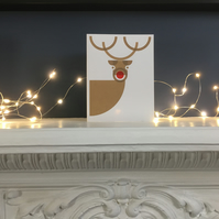 Salty's Studio Reindeer Christmas Card