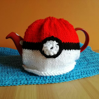 Pokeball tea cosy