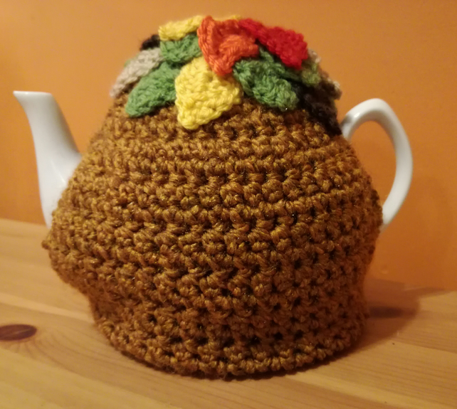 Autumn leaves tea cosy