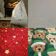 Large reusable cotton Christmas gift bag