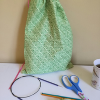 Cotton drawstring project bag