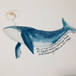 Greeting Card - Blank - Max the Blue Whale