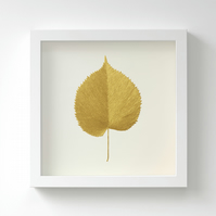 Golden Lime Leaf Painting – Acrylic Painting – Fits IKEA Frames – Unframed