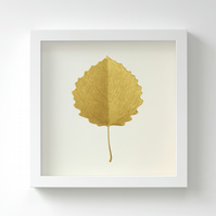 Golden Aspen Leaf Painting – Acrylic Painting – Fits IKEA Frames – Unframed