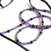 Larvikite Glasses Chain, Beaded Sunglasses Chain