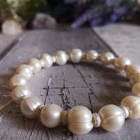 Freshwater Cultured Pearl And Sterling Silver bracelet