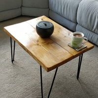 Reclaimed Single Level Coffee Table with Hairpin Legs