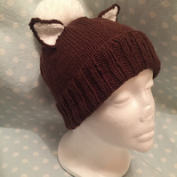 Foxy Brown Hand Knitted Beanie