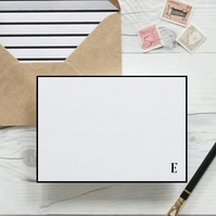 Initial, hand lettered luxury monogram notecards