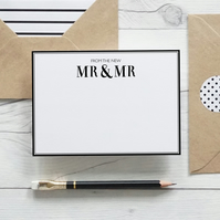 From the new Mr & Mr, hand lettered luxury notecards