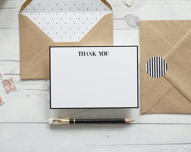 Thank You, luxury hand lettered thank you notecards