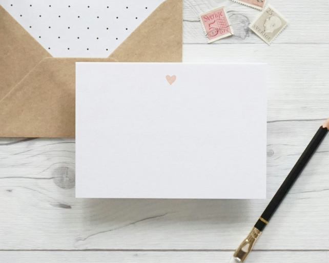 Tiny heart luxury notecards