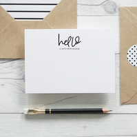 Hello A Note From... Luxury personalised hand lettered notecard set