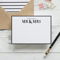 From the new Mr & Mrs, hand lettered luxury notecards