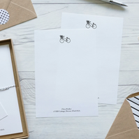Bicycle, personalised luxury writing paper