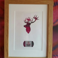 Harris Tweed Stag Picture
