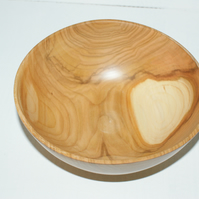 Wood turned cherry bowl