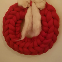 Chunky Knitted Wreath Large