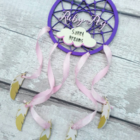 Wooden Dream Catcher, Sweet Dreams Dreamcatcher, Personalised Made To Order