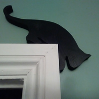 Cat wooden door topper